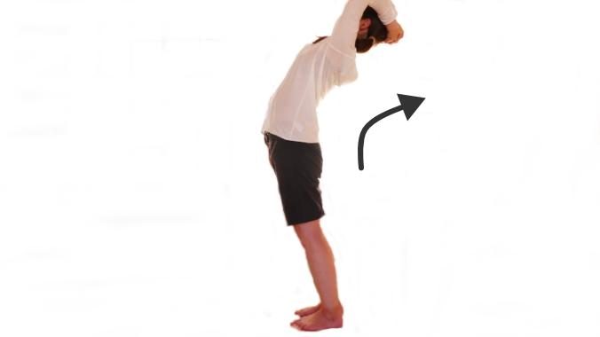 腰を伸ばす動き